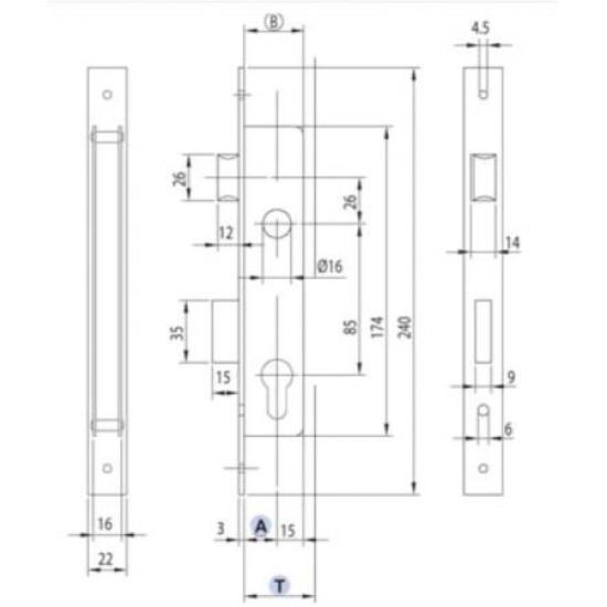 KOKERINBOUWSLOT PC85 DM25 RVS